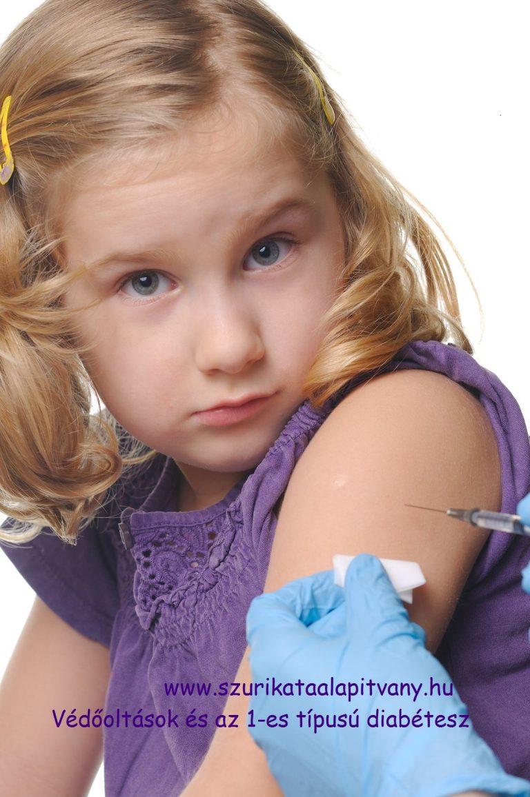 védőoltás felirattal