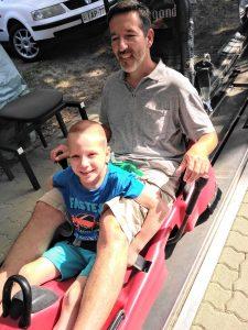 Matyi és doktor bácsija a visegrádi bobozáson